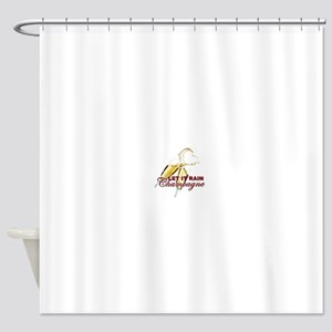 Let It Rain Champagne Shower Curtain